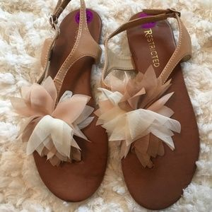 Restricted Shoes - Restricted Flower Puff Sandals Sz 8.5